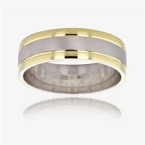 9ct gold and silver s luxury weight wedding band