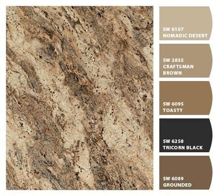colors that match with brown paint colors that match rainforest brown granite