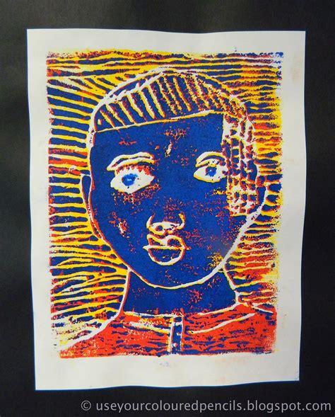 coloured pencils  portrait foam reduction prints