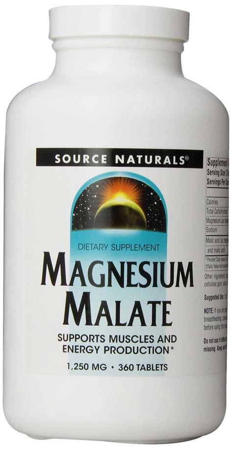 Malic Acid Brain Detox by Source Naturals Magnesium Malate 1250mg 360 Tablets 1
