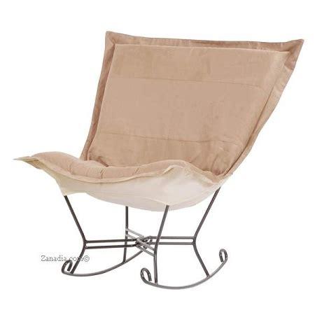 puff chair rocker chicago textile puff rocker microsuede sandstone