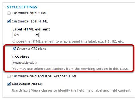 drupal theme table add class to row add css style to drupal views