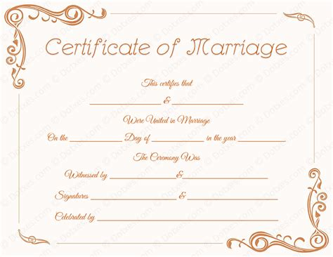 printable marriage certificate template standard marriage certificate template dotxes