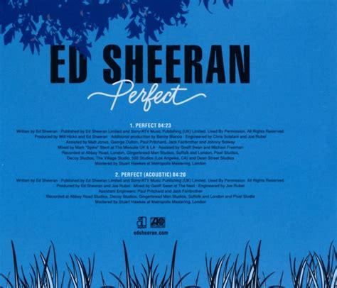 ed sheeran perfect album cover ed sheeran perfect 2 track warner music