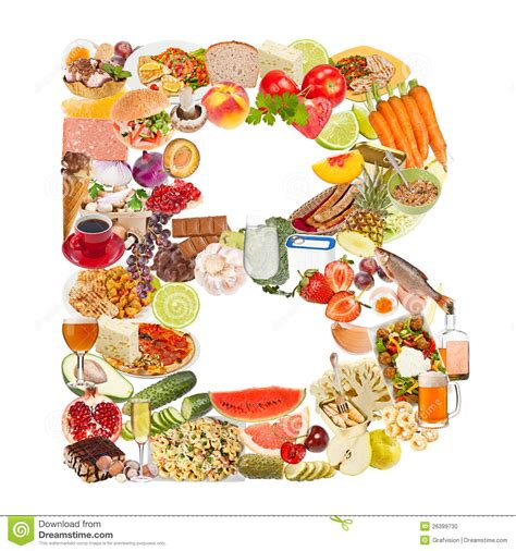 mad鑽e cuisine letter b made of food stock photo image 26399730