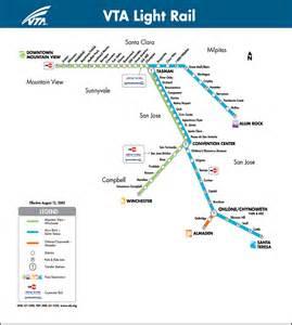 San Jose Vta Map by Light Rail System Map