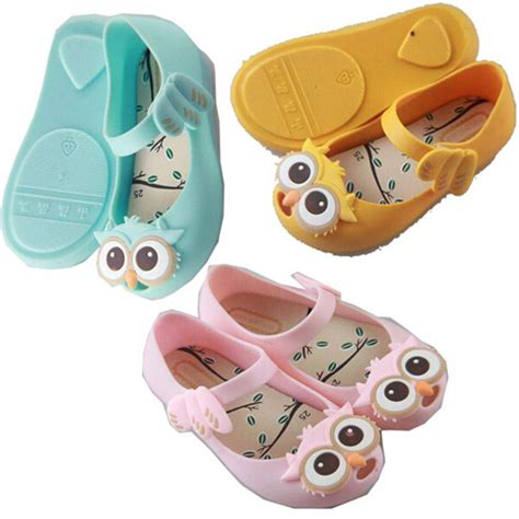 jelly shoes owl mini shoes with owl pattern 2016 baby