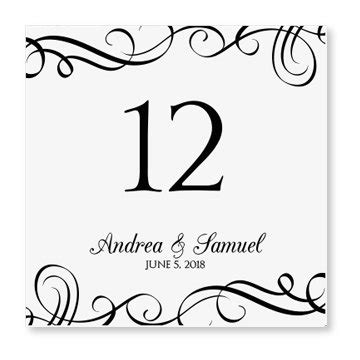 wedding table numbers with pictures template wedding