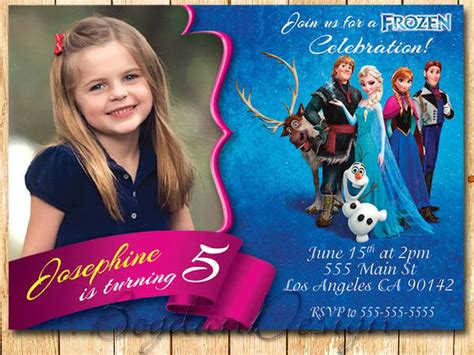 frozen birthday invitation with photo 11 frozen invitation template free sle exle format free premium templates