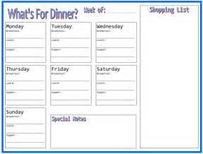 menu planner new calendar template site