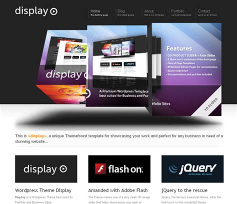 wordpress themes free no slider display commercial wordpress portfolio showcase theme