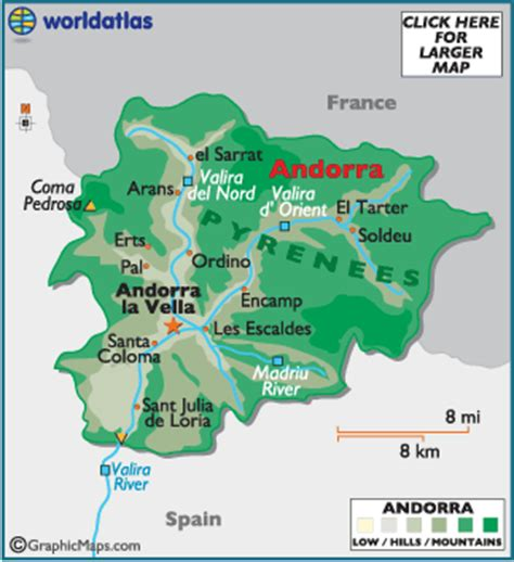 where is andorra on the map andorra map geography of andorra map of andorra