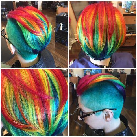 Rainbow Unicorn Palleta 12 Colour hair in the rainbow hair category