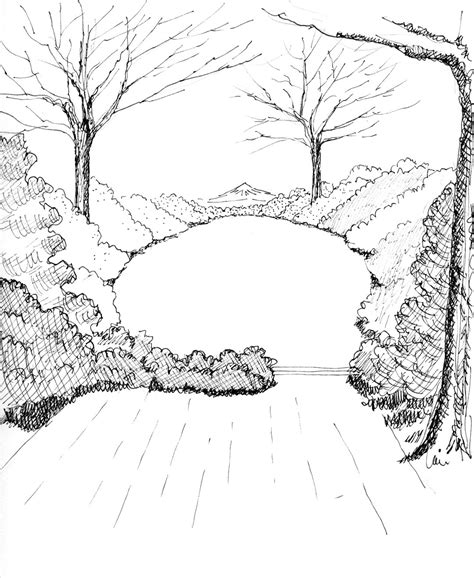 drawing of garden pacific horticulture society making gardens seem bigger