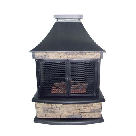 Outdoor Ventless Fireplace by Shop Garden Treasures 24 000 Btu Steel Outdoor