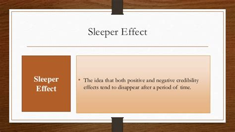 Sleeper Effect Persuasion by Communication And Its Influence On Consumer Behavior