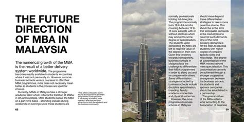 Mba In Malaysia by Editor Malaysia Editorial Design Services For