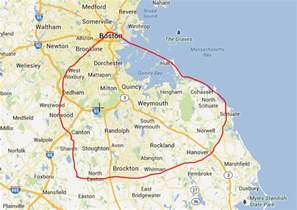 Greater Boston Map by Map Of Boston Area Related Keywords Amp Suggestions Map Of
