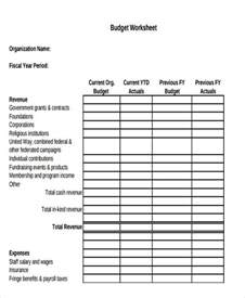 organizational budget template non profit budget worksheet worksheets reviewrevitol
