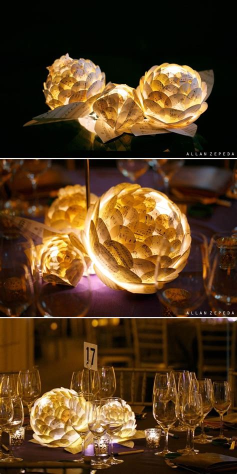 diy decorations led paper flower centerpieces sing for benefit gala