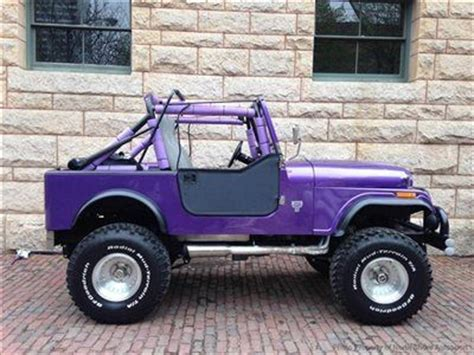 purple jeep cj buy new cj7 renegade 401 v8 auto soft top purple blue