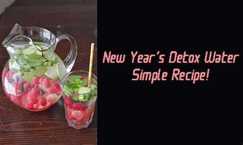 Does Running Detox Your by New Year S Detox Water Recipe Weight Loss