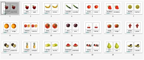 printable montessori number cards montessori materials fruit nomenclature cards age 1 to 6