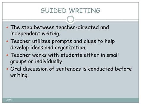 guided writing template images templates design ideas