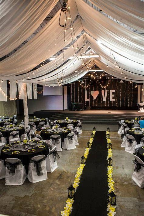 black white yellow wedding decor gorgeous galvan