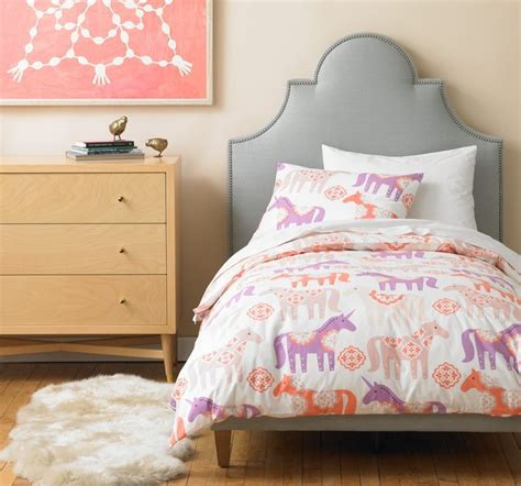 unicorn bedding dwellstudio unicorn duvet set modern kids bedding