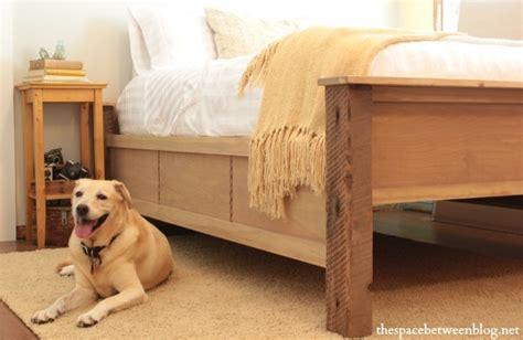 ana white diy wood bed frame  reclaimed wood legs