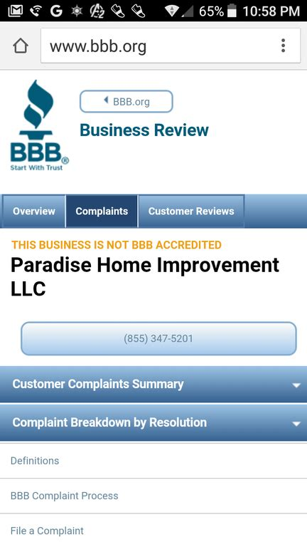 ripoff report paradise home improvement verified trusted