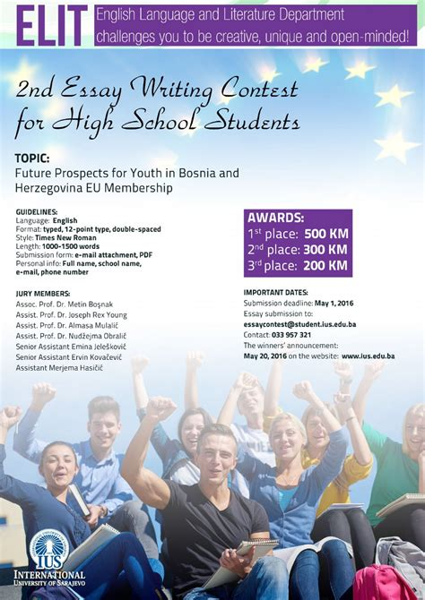 Essay Contests For High School Students 2nd essay writing contest for high school students international of sarajevo