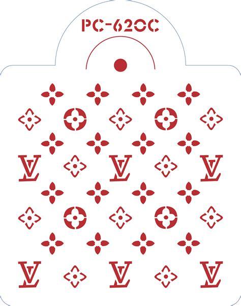 lv pattern stencil louis vuitton stencil 8 itacakes part 1