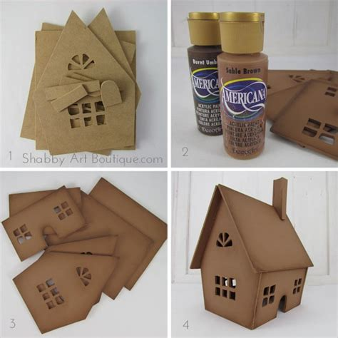 How To Make A Gingerbread House Out Of Paper - everlasting gingerbread house shabby boutique