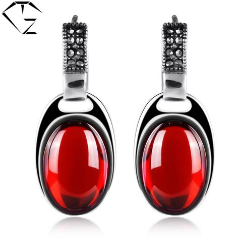 S925 Silver Drop Earring aliexpress buy 925 silver earring for garnet