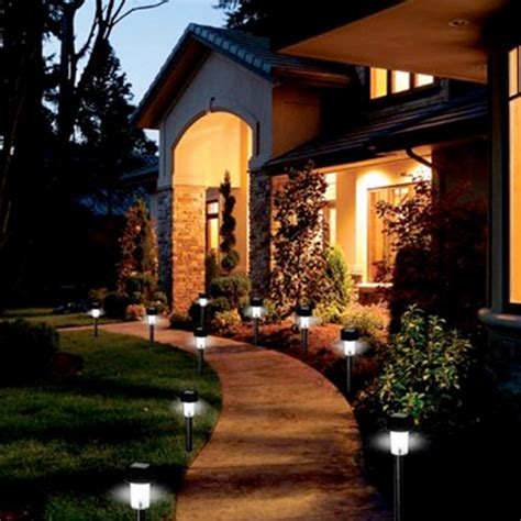 New 24pcs Led Outdoor Garden Path Lighting Landscape Solar Solar Landscaping Lights Outdoor