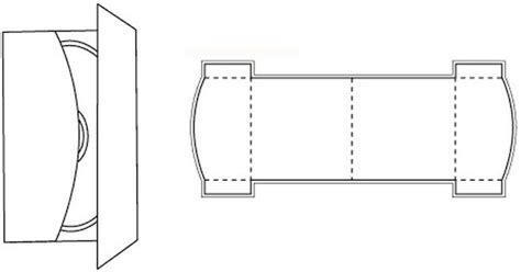 die cutting image of cd box template no 12 verpackungen