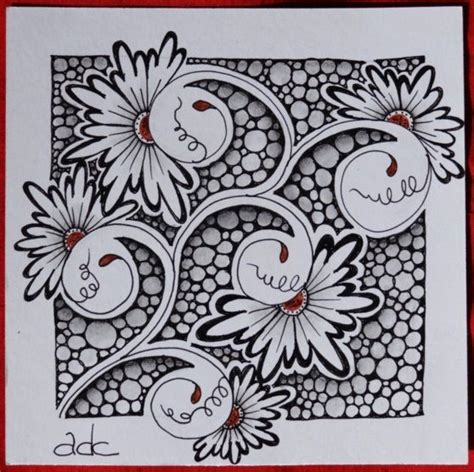 zentangle pattern henna drum henna drums and tile on pinterest