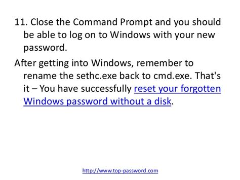 how to reset windows password without disk reset windows password without disk