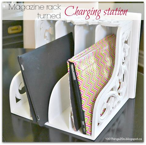 diy tablet charging station remodelaholic get rid of cord clutter with these 25 diy
