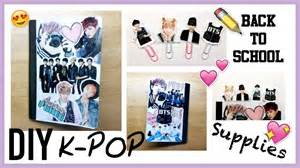 diy kpop back to school supplies part 1 notebook