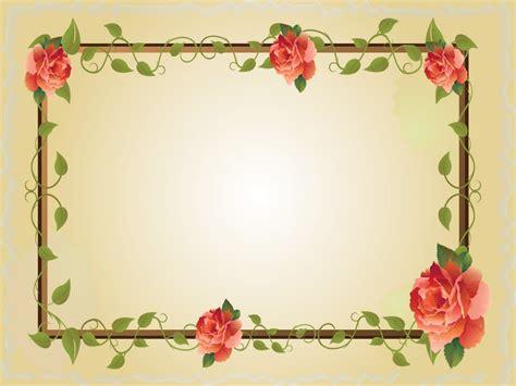 vintage floral frame backgrounds border frames ppt red rose flower frame ppt backgrounds border frames