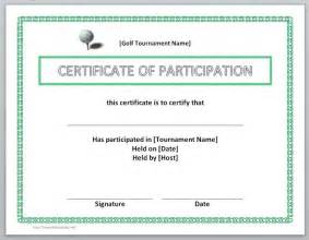 Participation Certificate Template by Participation Certificate Template Microsoft Word