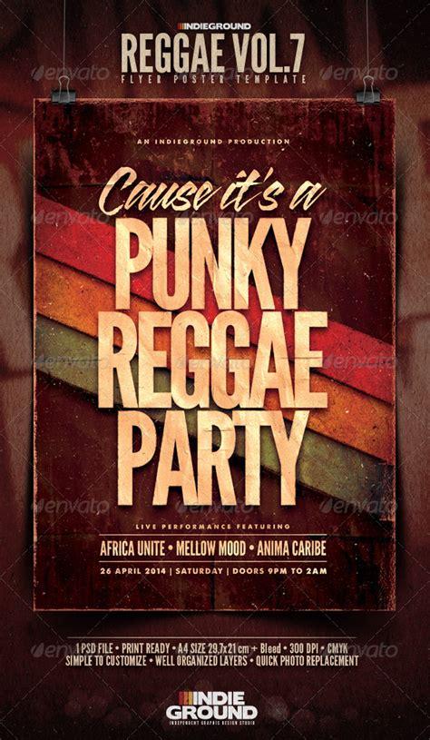 template flyer reggae reggae flyer poster vol 7 reggae italic font and fonts