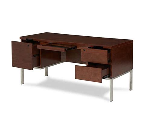 incept double pedestal desk by aico desks