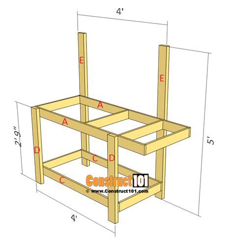 simple potting bench simple potting bench plans outdoor diy project