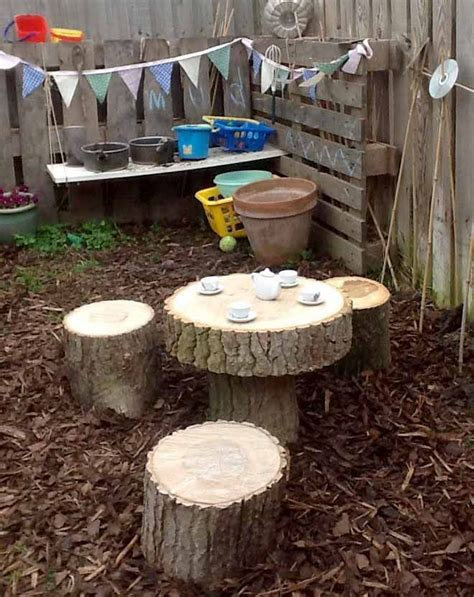 tree trunk table and chairs tree trunk table and chairs set in mud kitchen mud