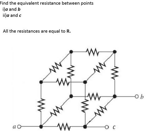 find the equivalent resistance ra of the resistor network find the equivalent resistance between points a an chegg