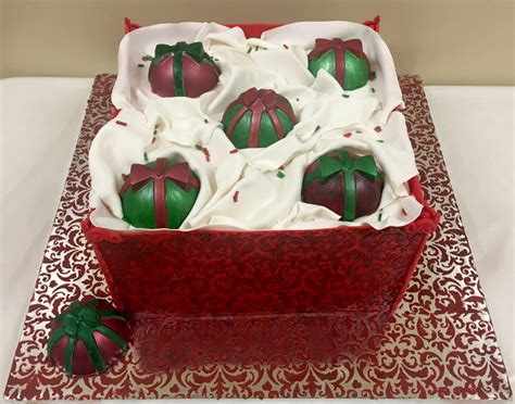 box of christmas ornaments cakecentral com